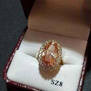 Tivoli Champagne CZ Ring